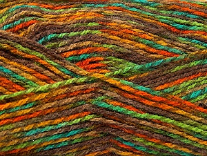 Fiber Content 100% Premium Acrylic, Turquoise, Orange, Brand ICE, Green, Gold, Brown, Yarn Thickness 2 Fine  Sport, Baby, fnt2-60943