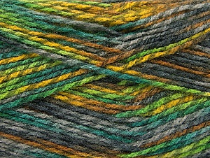Fiber Content 100% Premium Acrylic, Brand ICE, Grey Shades, Green Shades, Gold, Yarn Thickness 2 Fine  Sport, Baby, fnt2-60944