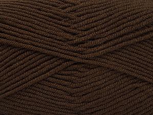 Fiber Content 100% Acrylic, Brand ICE, Dark Brown, Yarn Thickness 4 Medium  Worsted, Afghan, Aran, fnt2-60968