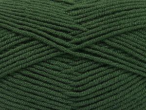 Fiber Content 100% Acrylic, Brand ICE, Dark Green, Yarn Thickness 4 Medium  Worsted, Afghan, Aran, fnt2-60983