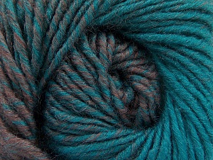 Fiber Content 75% Premium Acrylic, 25% Wool, Turquoise, Rose Brown, Brand ICE, Yarn Thickness 4 Medium  Worsted, Afghan, Aran, fnt2-61026
