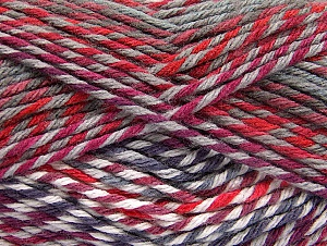 Fiber Content 100% Premium Acrylic, Red, Purple, Maroon, Brand ICE, Grey, Yarn Thickness 4 Medium  Worsted, Afghan, Aran, fnt2-61109