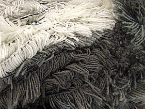 Fiber Content 95% Acrylic, 5% Polyester, White, Brand ICE, Grey Shades, Yarn Thickness 6 SuperBulky  Bulky, Roving, fnt2-61118