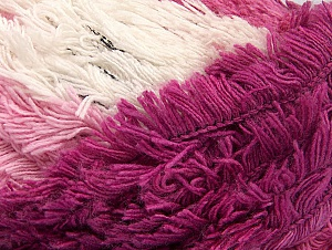 Fiber Content 95% Acrylic, 5% Polyester, White, Pink Shades, Brand ICE, Yarn Thickness 6 SuperBulky  Bulky, Roving, fnt2-61119