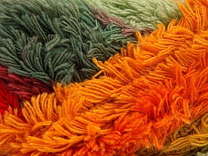 Fiber Content 95% Acrylic, 5% Polyester, Red, Orchid, Orange, Brand ICE, Grey Shades, Yarn Thickness 6 SuperBulky  Bulky, Roving, fnt2-61127