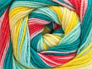 Fiber Content 100% Baby Acrylic, Yellow Shades, Salmon, Pink, Brand ICE, Green Shades, Yarn Thickness 2 Fine  Sport, Baby, fnt2-61139