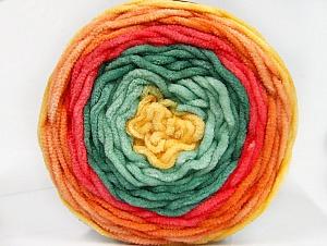 Fiber Content 100% Acrylic, Yellow, Salmon, Orange, Brand ICE, Green Shades, Yarn Thickness 4 Medium  Worsted, Afghan, Aran, fnt2-61168