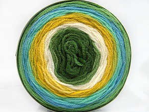 Fiber Content 100% Premium Acrylic, Turquoise, Brand ICE, Green Shades, Cream, Yarn Thickness 3 Light  DK, Light, Worsted, fnt2-61178
