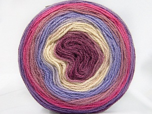 Fiber Content 100% Premium Acrylic, Pink Shades, Lilac Shades, Brand ICE, Cream, Yarn Thickness 3 Light  DK, Light, Worsted, fnt2-61185