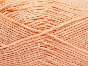 Fiber Content 60% Bamboo, 40% Polyamide, Light Salmon, Brand ICE, Yarn Thickness 2 Fine  Sport, Baby, fnt2-61329