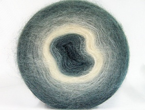 Fiber Content 60% Acrylic, 20% Angora, 20% Wool, White, Brand ICE, Grey Shades, Yarn Thickness 2 Fine  Sport, Baby, fnt2-61378