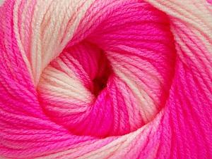 İçerik 100% Bebe Akrilik, White, Neon Pink, Light Pink, Brand ICE, Yarn Thickness 2 Fine  Sport, Baby, fnt2-61386