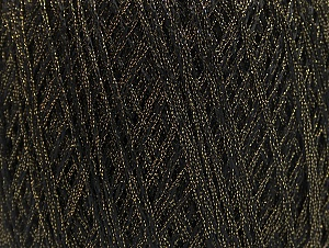 Fiber Content 85% Viscose, 15% Metallic Lurex, Brand ICE, Gold, Black, fnt2-62218