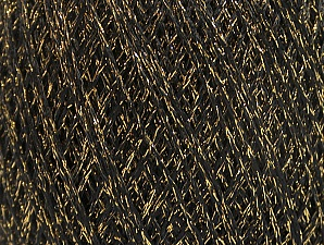Fiber Content 75% Viscose, 25% Metallic Lurex, Brand ICE, Gold, Black, fnt2-62221