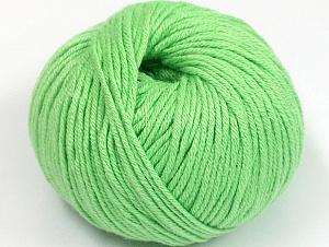 Fiber Content 50% Cotton, 50% Acrylic, Light Green, Brand ICE, fnt2-62390