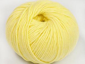 Fiber Content 50% Cotton, 50% Acrylic, Light Yellow, Brand ICE, fnt2-62405