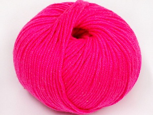 Fiber Content 50% Cotton, 50% Acrylic, Neon Pink, Brand ICE, fnt2-62408