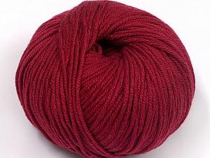 Fiber Content 50% Cotton, 50% Acrylic, Brand ICE, Burgundy, fnt2-62409