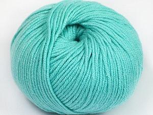 Fiber Content 50% Cotton, 50% Acrylic, Light Emerald Green, Brand ICE, fnt2-62428