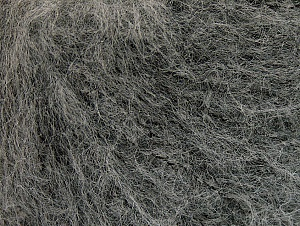 Knitted as 4 ply Fiber Content 40% Polyamide, 30% Acrylic, 30% Kid Mohair, Brand ICE, Grey, fnt2-62484