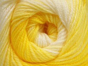 İçerik 100% Bebe Akrilik, Yellow Shades, White, Brand ICE, Yarn Thickness 2 Fine  Sport, Baby, fnt2-62537