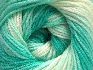 İçerik 100% Bebe Akrilik, White, Mint Green, Brand ICE, Yarn Thickness 2 Fine  Sport, Baby, fnt2-62538