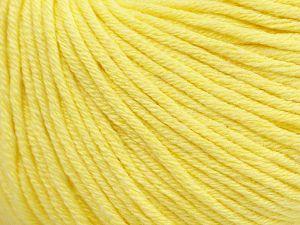 Fiber Content 50% Cotton, 50% Acrylic, Light Yellow, Brand ICE, fnt2-62734