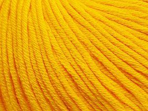 Fiber Content 50% Cotton, 50% Acrylic, Yellow, Brand ICE, fnt2-62735