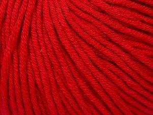 Fiber Content 50% Cotton, 50% Acrylic, Brand ICE, Dark Red, fnt2-62741