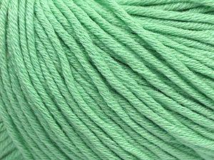 Fiber Content 50% Cotton, 50% Acrylic, Mint Green, Brand ICE, fnt2-62750