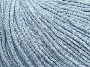 Fiber Content 50% Cotton, 50% Acrylic, Light Blue, Brand ICE, fnt2-62754