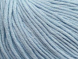 Fiber Content 50% Cotton, 50% Acrylic, Light Blue, Brand ICE, fnt2-62754