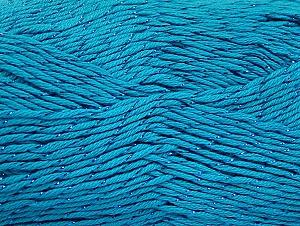 Fiber Content 49% Premium Acrylic, 49% Cotton, 2% Metallic Lurex, Turquoise, Brand ICE, fnt2-62895