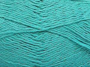 Fiber Content 49% Cotton, 49% Premium Acrylic, 2% Metallic Lurex, Light Turquoise, Brand ICE, fnt2-62896