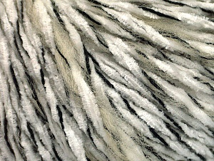 Fiber Content 85% Acrylic, 15% Wool, White, Brand ICE, Cream, Black, fnt2-62963