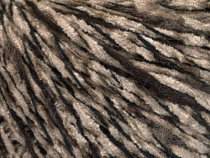 Fiber Content 85% Acrylic, 15% Wool, Brand ICE, Dark Brown, Camel, Black, fnt2-62966