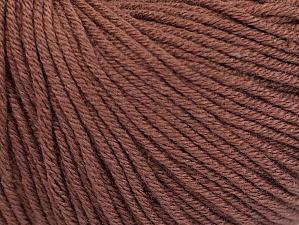 Fiber Content 60% Cotton, 40% Acrylic, Brand ICE, Brown, fnt2-63012