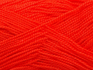 Vezelgehalte 100% Acryl, Neon Orange, Brand ICE, Yarn Thickness 1 SuperFine  Sock, Fingering, Baby, fnt2-63092