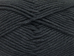 Fiber Content 55% Cotton, 45% Acrylic, Brand ICE, Anthracite Black, Yarn Thickness 4 Medium  Worsted, Afghan, Aran, fnt2-63096