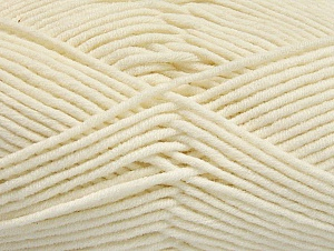 Fiber Content 55% Cotton, 45% Acrylic, Brand ICE, Ecru, Yarn Thickness 4 Medium  Worsted, Afghan, Aran, fnt2-63097