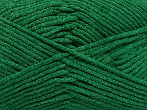 Fiber Content 55% Cotton, 45% Acrylic, Brand ICE, Dark Green, Yarn Thickness 4 Medium  Worsted, Afghan, Aran, fnt2-63099