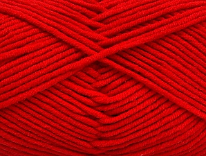 Fiber Content 55% Cotton, 45% Acrylic, Tomato Red, Brand ICE, Yarn Thickness 4 Medium  Worsted, Afghan, Aran, fnt2-63100