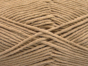 Fiber Content 55% Cotton, 45% Acrylic, Brand ICE, Beige, Yarn Thickness 4 Medium  Worsted, Afghan, Aran, fnt2-63101