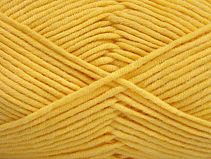 Fiber Content 55% Cotton, 45% Acrylic, Yellow, Brand ICE, Yarn Thickness 4 Medium  Worsted, Afghan, Aran, fnt2-63103