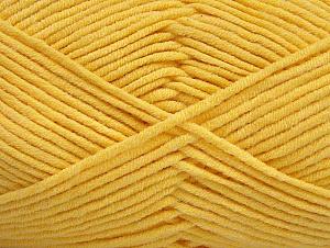 Περιεχόμενο ίνας 55% Βαμβάκι, 45% Ακρυλικό, Yellow, Brand ICE, Yarn Thickness 4 Medium  Worsted, Afghan, Aran, fnt2-63103