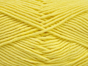 Περιεχόμενο ίνας 55% Βαμβάκι, 45% Ακρυλικό, Light Yellow, Brand ICE, Yarn Thickness 4 Medium  Worsted, Afghan, Aran, fnt2-63104