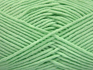 Fiber Content 55% Cotton, 45% Acrylic, Mint Green, Brand ICE, Yarn Thickness 4 Medium  Worsted, Afghan, Aran, fnt2-63105
