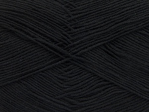 Fiber Content 55% Cotton, 45% Acrylic, Brand ICE, Black, Yarn Thickness 1 SuperFine  Sock, Fingering, Baby, fnt2-63106