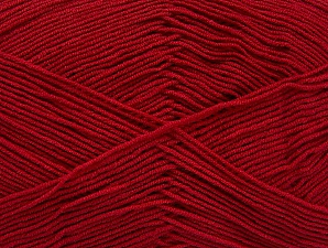 Fiber Content 55% Cotton, 45% Acrylic, Brand ICE, Dark Red, Yarn Thickness 1 SuperFine  Sock, Fingering, Baby, fnt2-63111