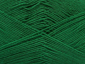 Fiber Content 55% Cotton, 45% Acrylic, Brand ICE, Dark Green, Yarn Thickness 1 SuperFine  Sock, Fingering, Baby, fnt2-63114